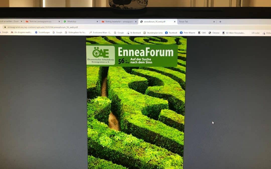 Aktuelles EnneaForum diesmal auch online